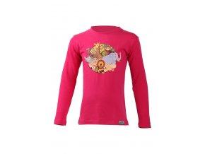 Lasting Lasting dětské merino triko ALI růžové
