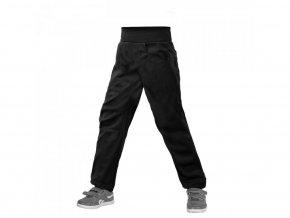 16833 unuo detske softshellove kalhoty bez zatepleni pruzne cool cerna