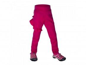 16878 unuo detske softshellove kalhoty bez zatepleni pruzne fantasy fuchsiova
