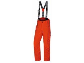 Husky Pánské lyžařské kalhoty  Mitaly M neonově oranžová