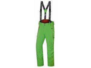 Husky Pánské lyžařské kalhoty  Mitaly M neonově zelená