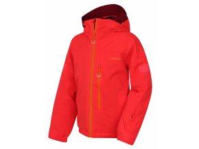 Husky Dětská ski bunda   Gomez Kids neonově růžová