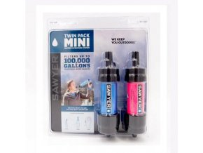 291266 vodni cestovni filtr sawyer sp128 twin pack mini filter blue pink