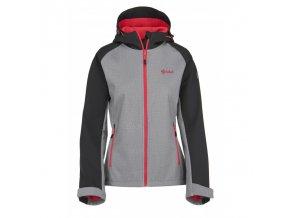 Kilpi Elia světle šedá + růžová  dámská bunda