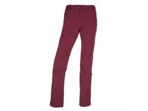 Kilpi Lago-w tmavě červená  dámské kalhoty