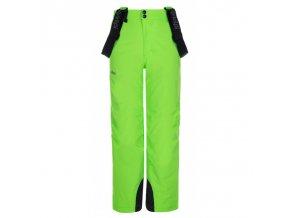 Kilpi Methone-jb zelená  dětské kalhoty
