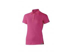 Lasting dámská merino polo košile ERIKA růžová