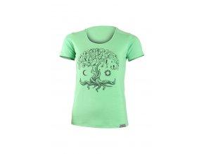 Lasting dámské merino triko s tiskem KASTRO zelené