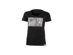 Lasting dámské merino triko s tiskem KASA černé