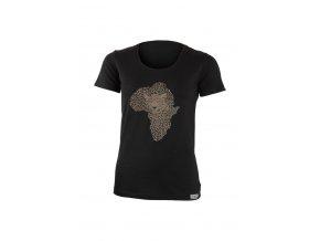 Lasting dámské merino triko s tiskem KALE černé