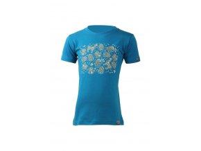 Lasting dětské merino triko KOST modré