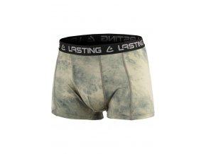 Lasting pánské merino boxerky BORO zelené