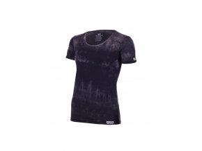 Lasting dámské merino triko BRENA černá batika