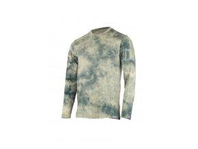 Lasting pánské merino triko BOLON zelená batika