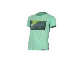 Lasting dámské merino triko s tiskem NIGHT zelené
