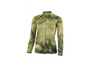 Lasting dámská merino košile BANDA žlutá batika