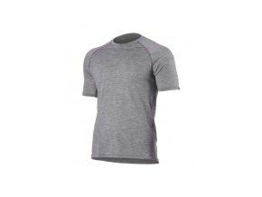 Lasting dětské merino triko HARY šedé