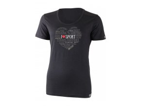 Lasting dámské merino triko ELOVE černé