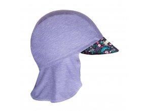 Unuo, Dětská funkční čepice s kšiltem a plachetkou UV 50+, Žíhaná Holubičí Šedá, Mořský svět