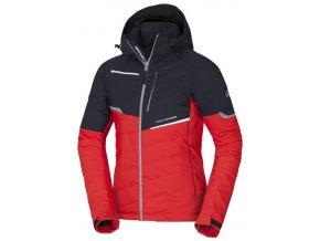 northfinder panska lyzarska bunda kvenstin black red bu 3796snw 277 01