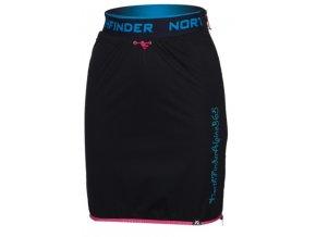 northfinder damska zateplena sukne jaraba blackrose su 4560skp 278 01