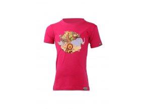 Lasting dětské merino triko ANIM růžové