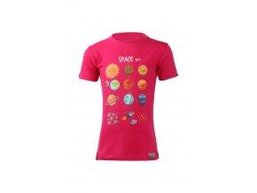 Lasting dětské merino triko LUNA růžové