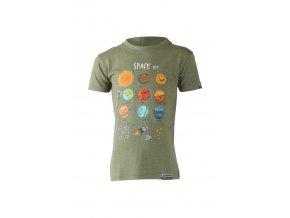 Lasting dětské merino triko LUNA zelené
