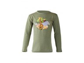 Lasting dětské merino triko ALI zelené