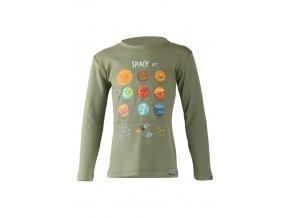 Lasting dětské merino triko AVE zelené