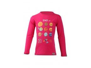 Lasting dětské merino triko AVE růžové