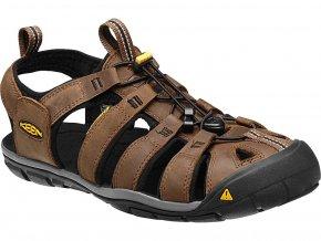 Keen CLEARWATER CNX LEATHER MEN dark earth/black  pánské sandály + kód pro dodatečnou 10% slevu: KEEN10