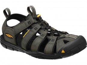 Keen CLEARWATER CNX LEATHER MEN magnet/black  pánské sandály + kód pro dodatečnou 10% slevu: KEEN10