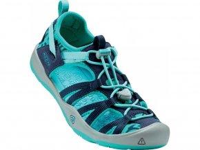 keen moxie sandal youth dress blues viridian 01