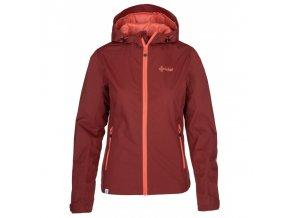 Kilpi Orleti-w tmavě červená  dámská bunda + kód pro dodatečnou 20% slevu: 20NAVSECHNO