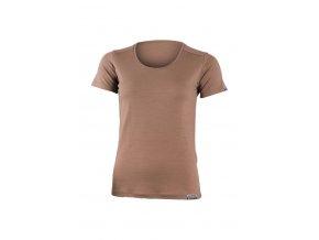 Lasting dámské merino triko IRENA hnědé