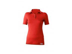 Lasting dámská merino polo košile ALISA červená