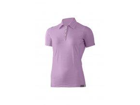 Lasting dámská merino polo košile ALISA fialová