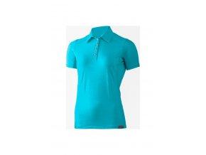 Lasting dámská merino polo košile ALISA modrá