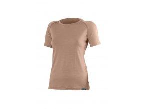 Lasting dámské merino triko ALEA hnědé