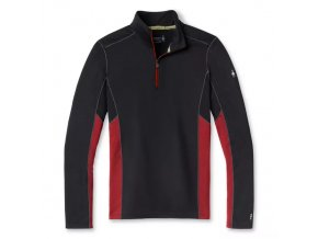 smartwool m merino sport 150 long sleeve 1 4 zip tibetan red heather black 01