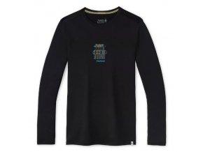 smartwool m merino sport 150 smw logo long sleeve graphic tee black 01
