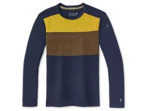 smartwool m merino 250 bl colorblock crew boxed deep navy military olive hthr 1