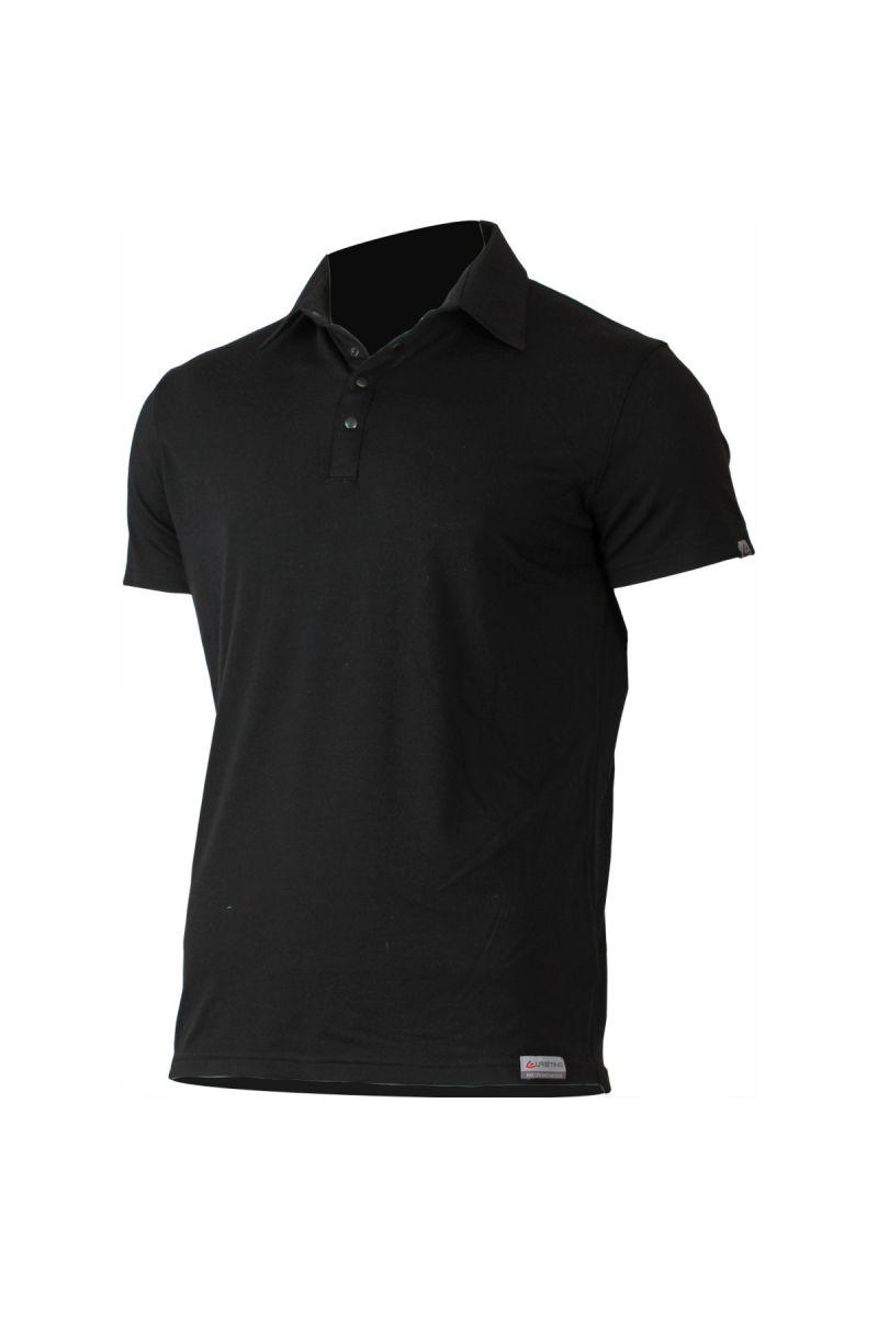 Lasting ELIOT 9090 černá vlněné merino polo košile Velikost  M 7510105d81