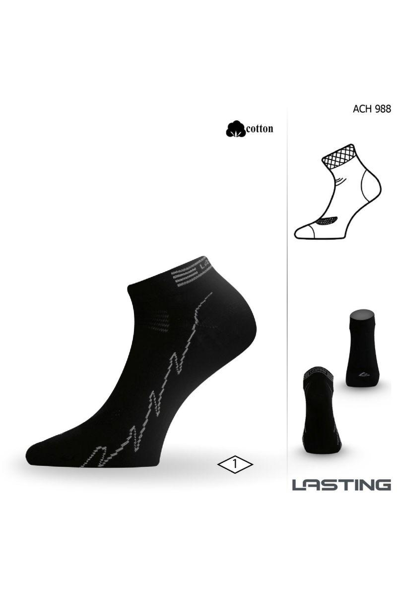 Lasting ACH ponožky pro aktivní sport 988 černá Velikost: (38-41) M