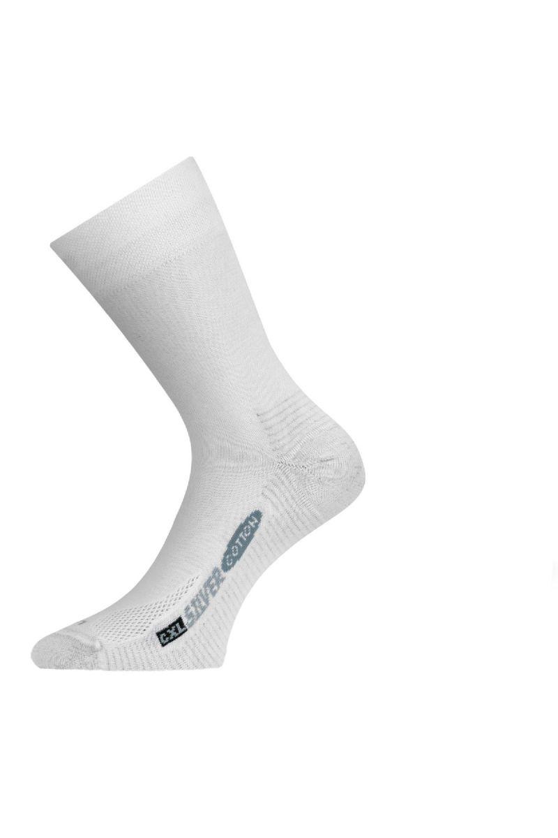 Lasting CXL 001 bílá trekingová ponožka Velikost: (38-41) M