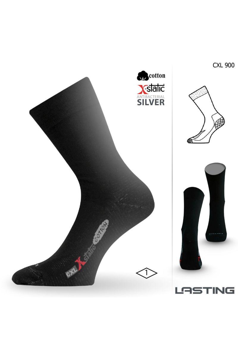 Lasting CXL 900 černá trekingová ponožka Velikost: (38-41) M