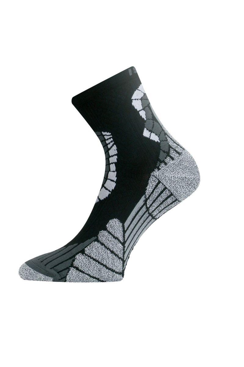 Lasting IRM 901 černá běžecké ponožky Velikost: (42-45) L