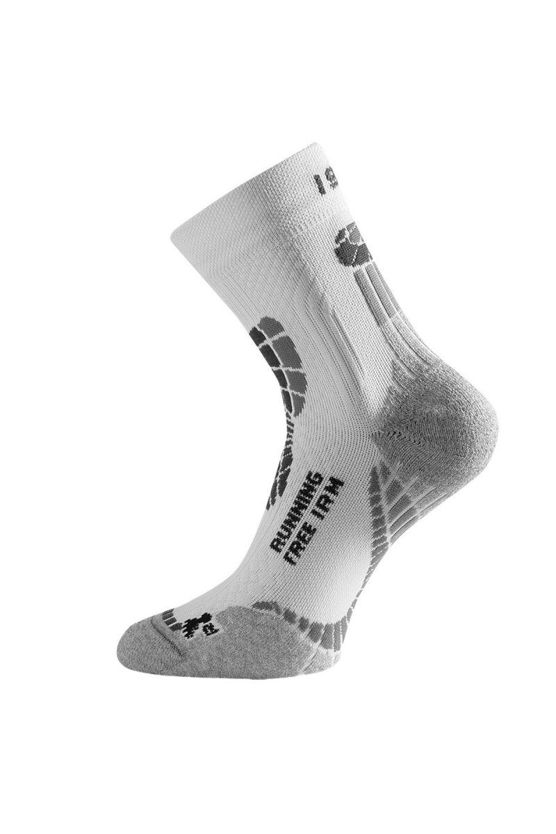 Lasting IRM 009 bílá běžecké ponožky Velikost: (42-45) L