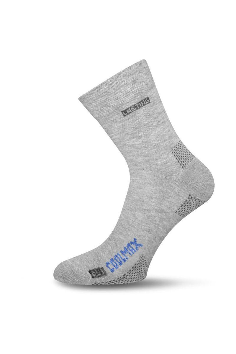 Lasting OLI 800 šedá Coolmax ponožky Velikost: (38-41) M možnost vrácení do 12.1.2018